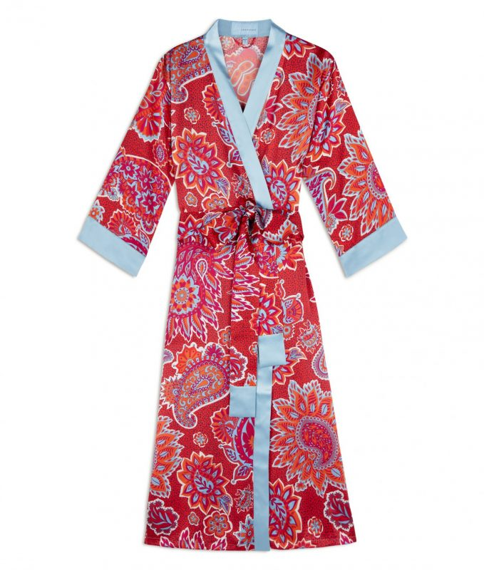 Royal Paisley long silk robe, longstaff longstaff, royal paisley, silk, robe, kimono,