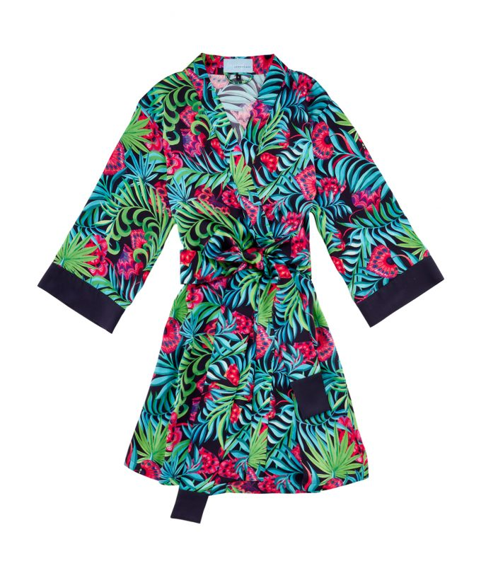 Longstaff Longstaff, Sophie Barnard, Made in England, designer, couture, silk, pyjamas, kimono, robe, glass hearts