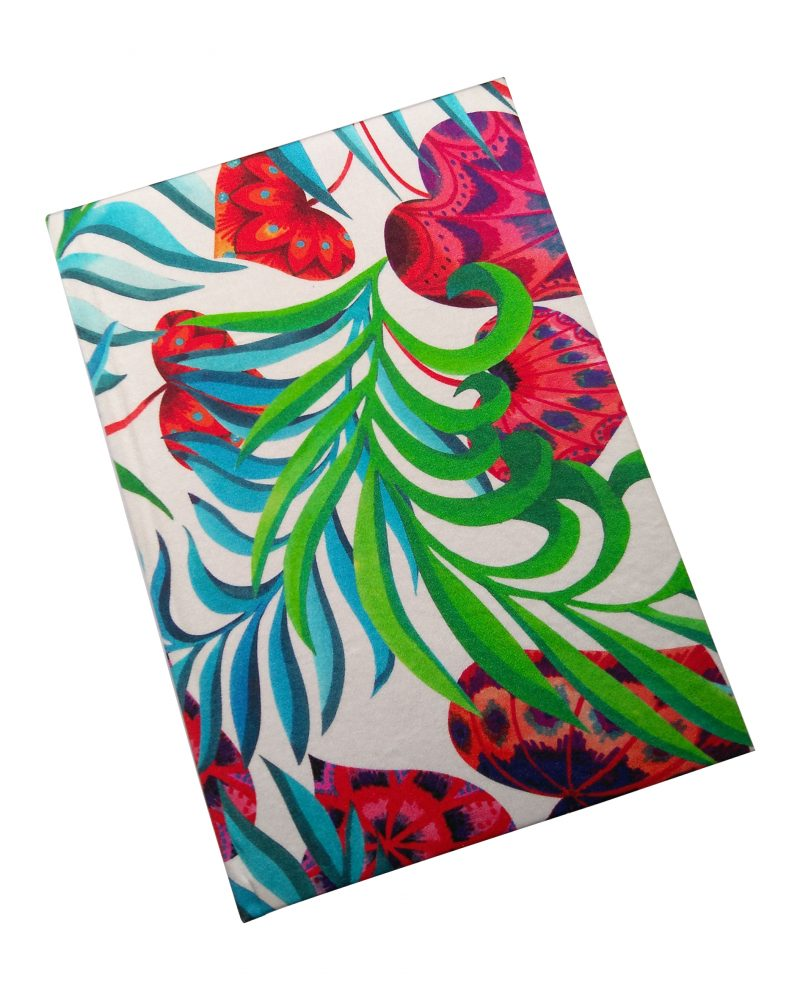 floral silk a5 notepad