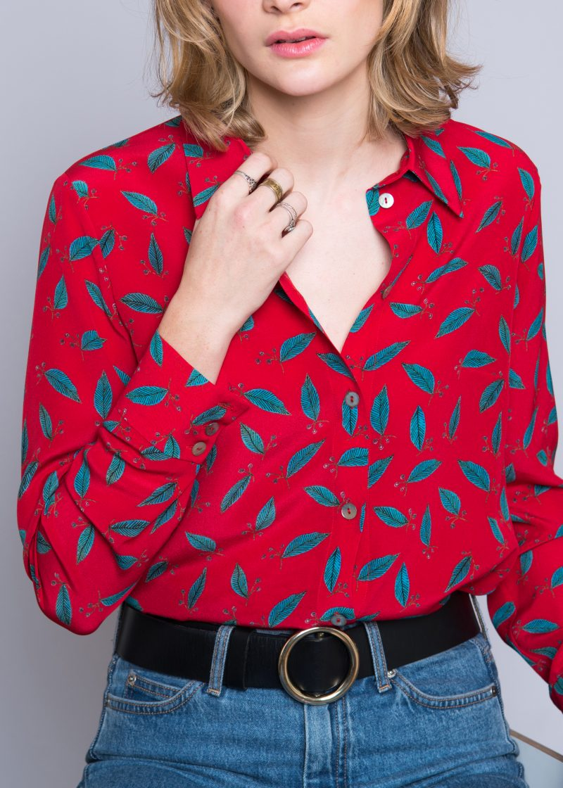 silk blouse, detail