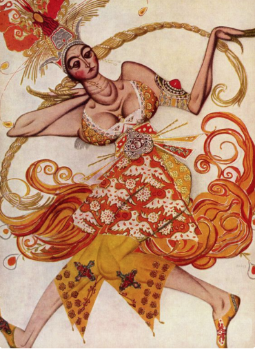 design by Leon Bakst for the Firebird Ballet Russes